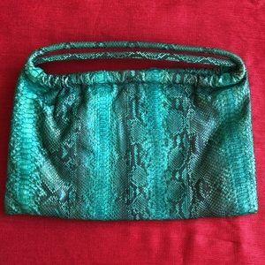 Genuine Saya Python Skin Green Bag